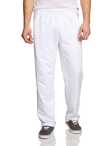 Trigema Sweat-Qualität - Pantalon De Sport - Relaxed - Homme Blanc (Weiss 001)