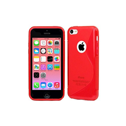 high-value-apple-iphone-5c-red-silicone-gel-s-line-grip-case-cover-for-apple-iphone-5c-by-g4gadget