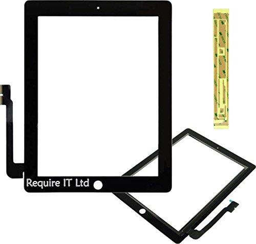 Ersatz-Touchglas für iPad 4,Digitalisiermodell A1458MD510LL/A 16GB, schwarz (Gb 16 Ersatz-bildschirm Ipad)