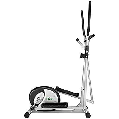 Finether Home Fitness Bike:Compact Elliptical Cross Trainer Magnetic Cardio Exercise Machine with Pulse Sensor 8 Resistance Levels&Transport Wheels Home Gym Indoor Exercise 3-Years Guarantee by Finether
