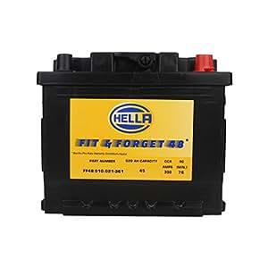 Hella FF48 010.021-361 12V 45AH DIN45 Car Battery (Under Exchange-Old Battery)