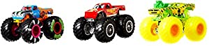 Hot Wheels Monster Trucks Pack de 3 coches Dueling Doubles, modelos surtidos 1 (Mattel GJY46)