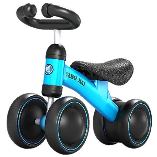 GJNWRQCY Baby-Balancen-Fahrrad-Baby-Fahrrad für 12-36 Monate, Perfekt als erstes Fahrrad oder Geburtstagsgeschenk, Sicher Fahren Spielzeug Ideal Baby-Fahrrad,Blau
