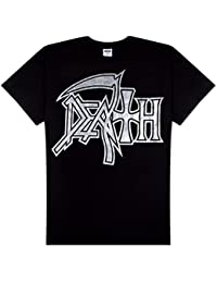 Death - Large Silver Logo Adult T-Shirt
