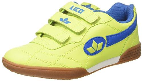 Lico Unisex-Erwachsene Bernie V Multisport Indoor Schuhe Gelb (Lemon/Blau) 38 EU (Weiß-schule Tennis-schuhe)