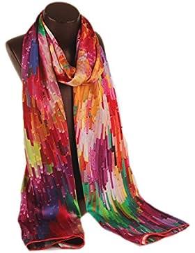 Prettystern P148 - LUJO 180 cm X 60 cm de la bufanda de seda satén pesado hecho a mano Fantasia Por menos de