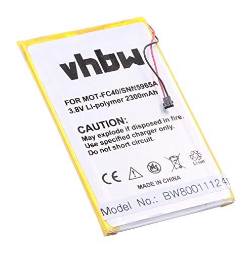 vhbw Li-Polymer Batteria 2300mAh (3.8V) per cellulari e smartphone Motorola Moto G 2015, G 3rd gen, G3, G3 Dual Sim, XT1540 sostituisce FC40.