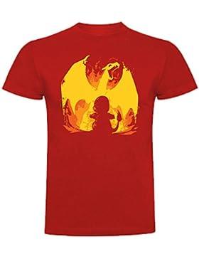 The Fan Tee Camiseta de Niños Pokemon Pikachu Charizar
