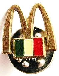 Mc Donalds - Italien - Logo & Flagge - Pin 13 x 13 mm