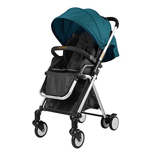 Besrey Passeggino Carrozzina Bambino 6-36 Mesi Pieghevole Capacità di Carico di Max 16 kg Circa Certificazione ECE sicurezza di UE Color Verde d' Acqua