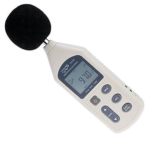 kkmoon Compteur numérique LCD Niveau sonore Bruit Surveillance Instrument de mesure décibels Enregistreur Testeur 30–130dB
