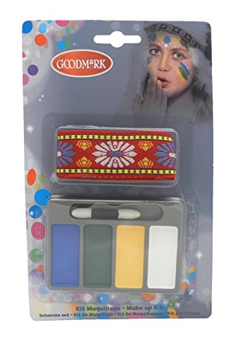 Goodmark MakeUp Set Indianer, 2er Pack (2 x 6 (Kinder Kostüm Ups)