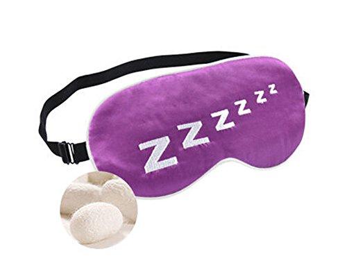 Charmant Double soie cache oeil / cache oeil pour dormir, Z violet
