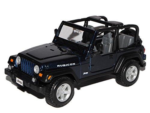 Maisto Jeep Wrangler Rubicon Blau 1/24 Modell Auto - Wrangler Modell Rubicon Jeep