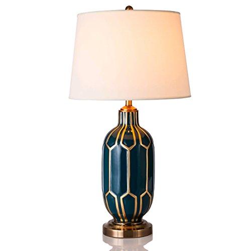 (TTTD Tischleuchte Neue Chinesisch-Stil handbemalte Keramik Lampen Dekoration Wohnzimmer Schlafzimmer Hotel Tischlampe)