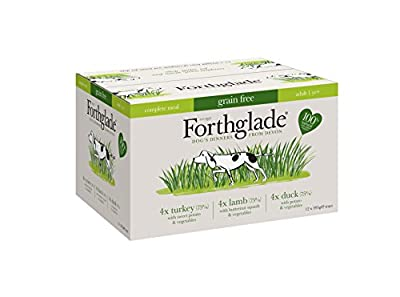 Forthglade 100% Natural Dog Food Grain Free Complete Wet Dog Food Variety Pack 395g (12 Pack) from Yes