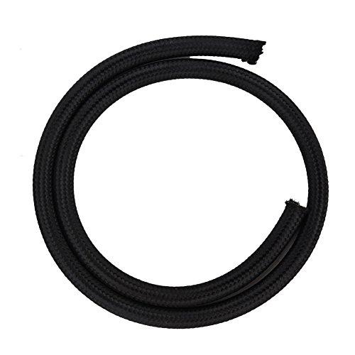 Kraftstoffschlauch, 1m Leichter hitzebeständiger Nylon-Schlauch Schlauchleitung schwarz Zubehör(AN6)