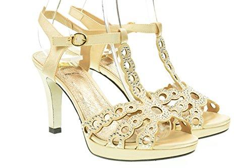 O6 MILANO donna sandali SA0341 CHAMPAGNE 40 Champagne