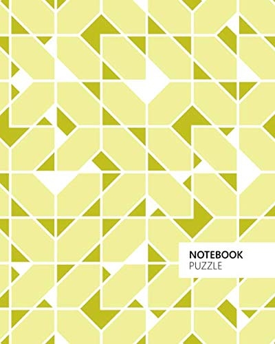 Puzzle Notebook: (Yellow Edition) Fun notebook 192 ruled/lined pages (8x10 inches / 20.3x25.4 cm / Large Jotter)