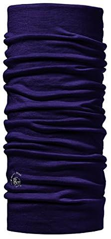 BUFF® Merino 100% Unisex Multifunktionstuch | Sturmhaube | Schal | Kopftuch | Halstuch | Schlauchschal + UP® Ultrapower Multifunktionstuch, Design:PLUM