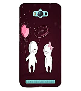 ColourCraft Funny Cartoons Design Back Case Cover for ASUS ZENFONE MAX ZC550KL