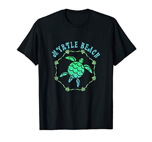 Myrtle Beach T-Shirt Retro Tribal Turtle Gift  T-Shirt - South Carolina Rot Shirts