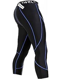 Lixada Hombres Deportes Medias Pantalones Secado Rápido Respirable Medias Deportivas para Rutina de Ejercicio Aptitud