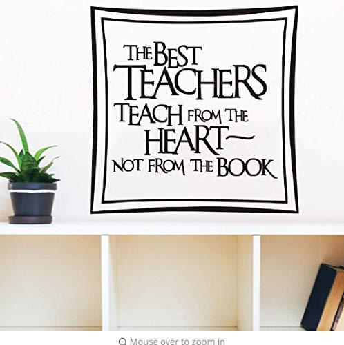 Die besten lehrer lehren aus dem herzen wandtattoo wohnkultur diy abnehmbare art vinyl aufkleber für esszimmer halle 58 cm x 58 cm (Wie Zu Lehrer Vermeiden Die Besten)