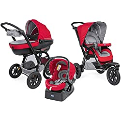 Chicco 06079270850000 Trio Activ3 Sistema Modulare con Kit Car, Red Berry