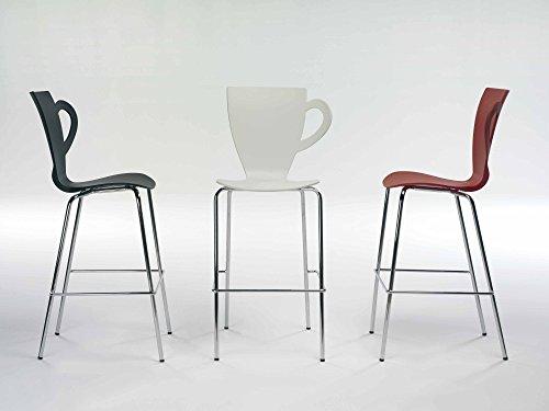 Lot de 4tabourets design tasse de café pour cuisine ou bâton Bar couleur Noir