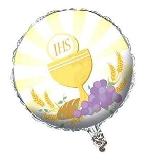 """bigiemme balón de papel de aluminio 18""""""""-45cm comunión, Multicolor, 8bg040470"""