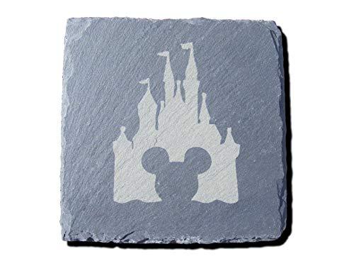 r mit Disney-Schloss, Mickey Mouse, inspiriert, für Getränke, als Geburtstagsgeschenk, Hochzeit, Hauseinweihung, 2 Stück ()