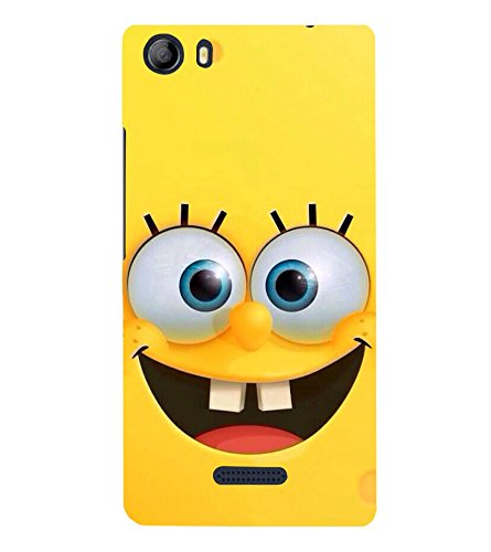 PrintVisa Vector Smiley 3D Hard Polycarbonate Designer Back Case Cover for Micromax Canvas 5 E481  available at amazon for Rs.279