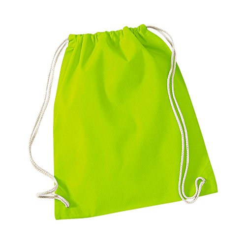 Westford Mill - Cotton Gymsac / Lime Green, 46 x 36 cm (Jungen-lime Green)