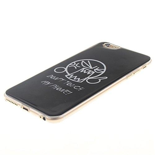 Nancen Ultra Slim Handyhülle für Apple iphone 6 Plus / 6S Plus (5,5 Zoll), Bunt Muster Painted Premium Etui Weich TPU Material Hülle Case Cover Schutz Silikon Schutzhülle Handy Backcover - Anti-kratzf Berühren Sie nicht mein Telefon 2