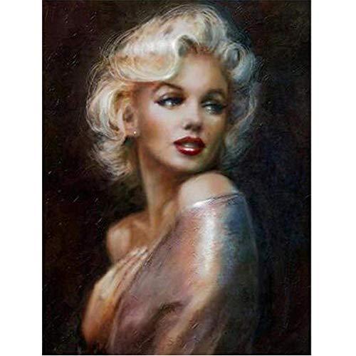 DIY 5D Diamant Malerei Voll Runde Bohrer Kits Strass Bild Kunsthandwerk für Hauptwanddekor 30x40 cm Marilyn Monroe