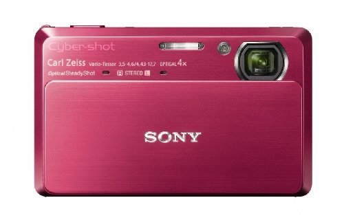Get Sony DSCTX7R Cyber-shot Digital Camera – Red (10.2 MP, 4x Optical Zoom) 3.5 inch LCD on Line