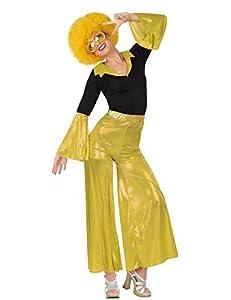 Atosa 26400 - fiebre del disco, señoras traje, tamaño 42/44, negro/dorado
