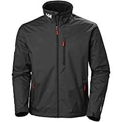 Helly Hansen Men's Crew Midlayer/Softshell Waterproof Jacket, Black, X-Large