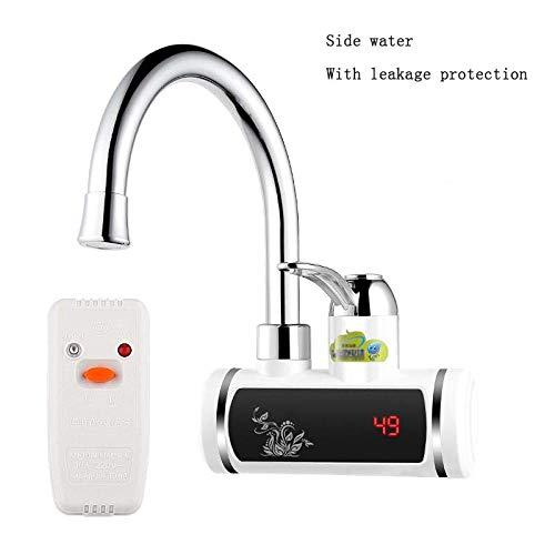 Wasserhahn Elektro-Durchlauferhitzer 220V Elektro-Wasserhahn Küche Durchlauferhitzer Digitalanzeige Boden/seitlicher Ansaugtyp - 220 Elektro-durchlauferhitzer