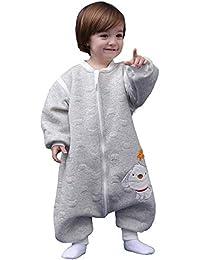Schläfsack baby langarm winter kinderSchlafsack,Hund Muster Baby Schlafsack mit Füßen Baumwolle Junge Mädchen unisex ganzjahres Schlafanzug.