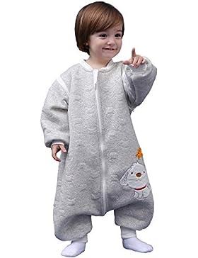 Schläfsack baby langarm winter kinderSchlafsack,Hund Muster Baby Schlafsack mit Füßen Baumwolle Junge Mädchen...