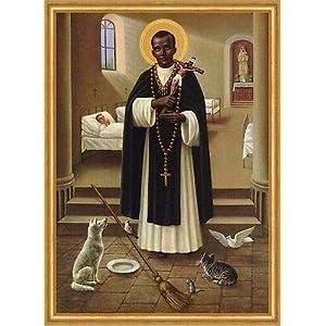 Kunstdruck Heiliger Bruder Martin von Porres Dominikaner Peru Lima St. LW Sankt A2 0134