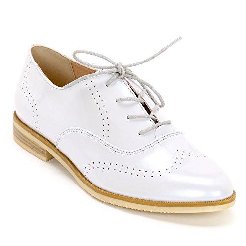Obsel: by Scarpe&Scarpe - Schnürschuhe mit Mikroperforation, Flache Schuhe, Leder - 36,0, Weiss