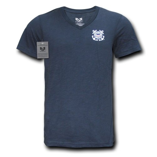 Rapid rapiddominance Coast Guard Military V-Neck Tee, Herren, navy