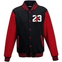 7327985c08c37 FELPA SUPREME AIR JORDAN TRIBUTE. KiarenzaFD Felpa College Jacket Airness  23 Chicago XL Black-Red