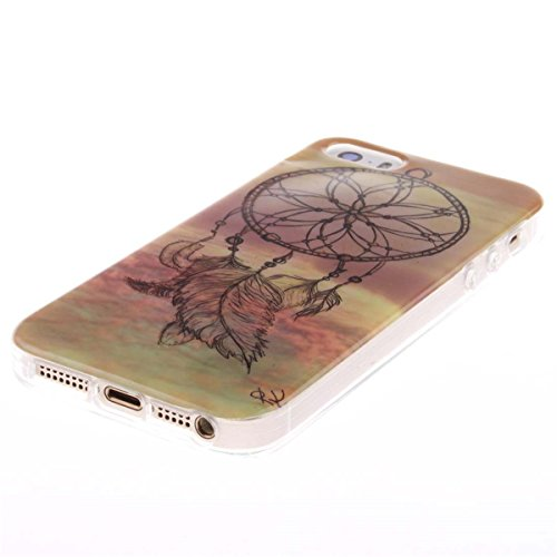 iPhone 5 5S SE Custodia Slim Leggero Flessibile TPU Immagine Leone Case per Apple iPhone 5 5S SE 5G Nero color4