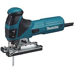 Makita 4351FCTJ - Sierra de calar (potencia eléctrica de 720 V, 800-2800 carreras/min, sistema de aspiración polvos) color azul y negro