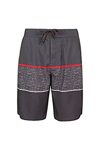 Mountain Warehouse Ocean Printed Mens Boardshorts - Quick Drying, 2 Side Pockets, internal Mesh Shorts with Perfect Fit - Great for Well Ventilated & Comfortable Grey XX-Large
