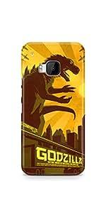Casenation Godzilla HTC One M9 Matte Case
